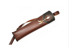 New Single Shoulder Back Quivers Top Head Layer Cowhide Leather Quivers