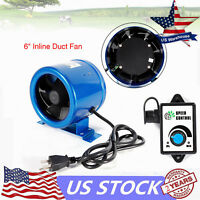"""6"""" Digital Mixed Flow Inline Duct Booster Fan Hydroponic Extractor Blower 350CFM"""