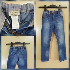 Girls Next Spring Summer Blue jeans With Pink Stitching Design Jeans 7 Years