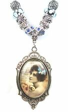 Sapphire Crystal Embellished Add A Bead Pendant Necklace 24 Inch Beauty LIMITED