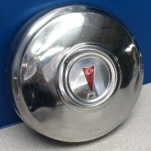 "ONE 1971-1976 Pontiac Dog Dish 15"" Steel Wheel Vintage Hubcap / Wheel Cover"