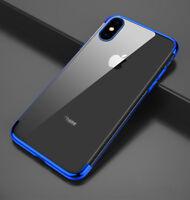 Housse Etui Coque Bumper Antichocs gel silicone TPU Apple iPhone 7/8 Plus bleu