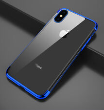 Housse Etui Coque Bumper Antichocs gel silicone TPU Apple iPhone X bleu