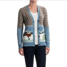 Woolrich Chimney Peak Cardigan Sweater Lambswool Sz XL Jaquard Holiday Long Slv