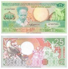Suriname 25 Gulden 1988 P-132b Banknotes UNC