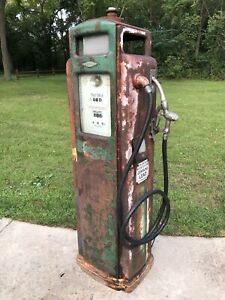 Bennett 371 Original Gas Pump Lights Work Station Sinclair Oil Service Gasoline