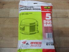 INVICTA Dust Bags x 5 Per Aspirapolvere UZ920 uz921 uz922 uz923 uz915 Uz930