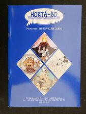 HORTA Catalogue vente enchères BD 18 février 2009