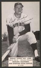 1962 HARVEY KUENN BASEBALL ADVERTISING RPPC J.D. McCARTHY POSTCARD CARD