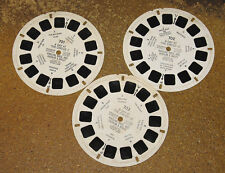 A DAY AT THE CIRCUS 1952 VIEWMASTER Loose 3-Reel Set No Booklet/Packet Ringling