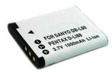 Battery for Sanyo Xacti DB-L80A, DB-L80AU, DB-L80U