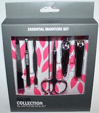 6 pc Salon Collection By Japonesque Essential Manicure Set + Case *