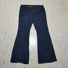 Younique Juniors Denim Jeans ~ Sz 7 ~ Blue ~ Flare ~ Dark ~ Stretch