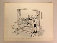 Original Gag Panel Comic Strip Cy Olson Cartoon SIGNED 1960s Relatives Humor