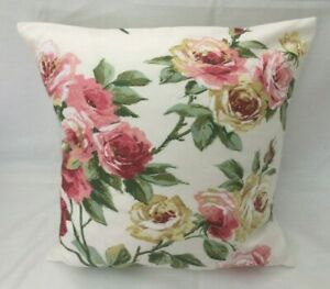 Beautiful Sanderson Designer Cushion Covers EGLANTINE Rose Fabric Various Sizes