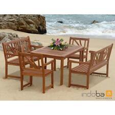 indoba® Gartenmöbel Set 5-teilig Lotus IND-70027-LOSE5 - Eukalyptus FSC Holz