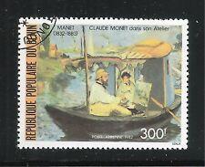 BENIN-1982-VALORE OBLITERATO DA 300 f. DI P.A. - EDOUARD MANET- IN BUONE CONDIZ.