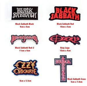Black Sabbath music rock band log badge Iron or Sew on Embroidered Patch