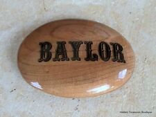Beautiful Wooden Stained Baylor Belt Buckle Handmade Personalized