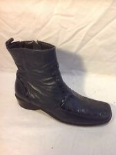Lotus Grey Ankle Leather Boots Size 3