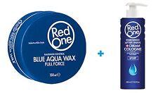 RedOne Gel Aqua Hair Wax  Blau 150ml und Aftershave Balsam Sport (100ml/2,54€)