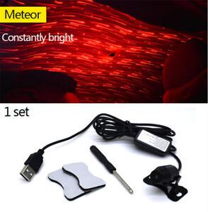Car USB LED Atmosphere Ceiling Star Light Meteor Sky Red Festival Decorative