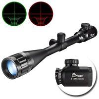 Optics Hunting Rifle Scope 6-24x50 AOE Red & Green Illuminated Gun scopes Mounts