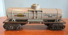 VINTAGE LIONEL 0 - O27 GAUGE  OIL SUNOCO GREY  TRAIN CAR W /BOX 6035