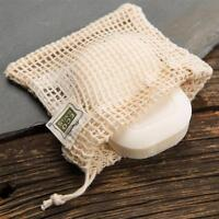 ECOBAGS® Natural Cotton Soap Bag 4 inches wide x 4.25 inches high Reusable Bags