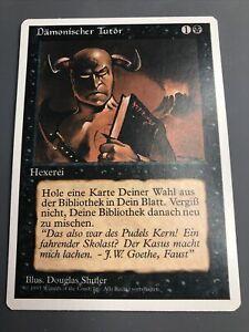 1x Demonic Tutor, German 4th Edition MTG Magic NM