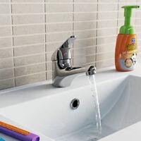 Chrome Bathroom Counter Basin Faucet Single Handle Tap Sink Spray  Mixer Toilet