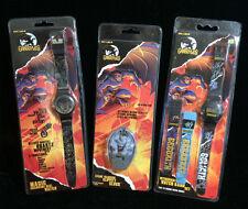Disney Lot of 3 Gargoyles Goliath Deluxe Digital Wristwatchs Clippity Clock Rare