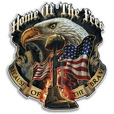 """Home of the Free High Quality Vehicle Reflective Patriotic Military Decal 4"""""""