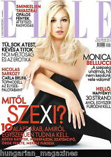 Elle Ungarn / Hungary Hungarian Magazine N 2008/02 - Monica Bellucci - Cover