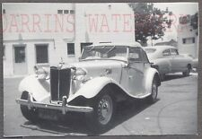 Vintage Car Photo MG TD Sports Car w/ California License 724579