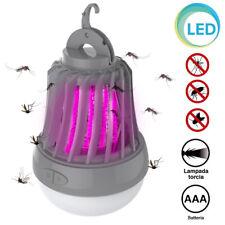Zanzariera Elettrica Torcia Lampada LED da Campeggio Anti Zanzare Batteria AAA