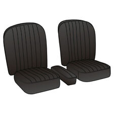 MGA Coupe Seat Covers Leather Black / Black piping Pair 1955-1962 NEW 246-010