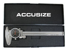 "6"" x 0.001"" Black Face Dial Caliper Stainless Steel in Fitted Box, #P920-B216"