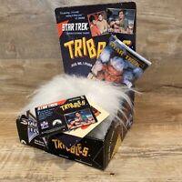 1991 NEW Star Trek Hug Me Purring Tribbles Toy White 25th Anniversary Paramount