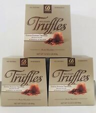 DONCKELS BELGIAN TRUFFLES COCOA DUSTED TRUFFLES PRODUCT OF BELGIUM 3 GIFT BOXES