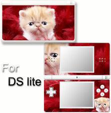 Cat Cute Pets VINYL SKIN STICKER for NINTENDO DS LITE 4