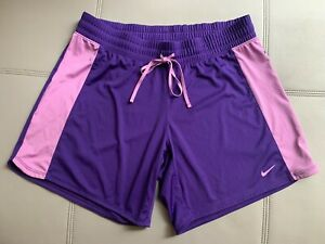 Nike Womens Dri Fit Purple Basketball Shorts Drawstring Sz Large L -  EUC!