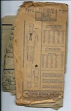 Pictorial Review 3972 DRESS sewing pattern Roaring 20's FROCK sew bust 40 hip 44