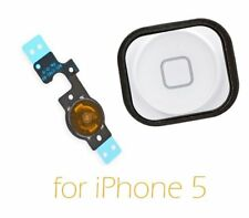 New Replacement Home Button Key with Flex Cable Repair For White iPhone 5