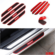 Universal Carbon Fiber Car Door Sill Scuff Plate Cover Panel Step Protector 4pcs