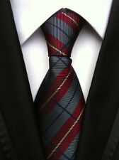 Classic Men's Neck Tie Silk Necktie Jacquard Woven Plaids Checks Striped Ties