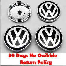 VW Volkswagen Centre de roue en alliage capuchons x4 60mm badges PASSAT POLO GOLF BORA LUPO