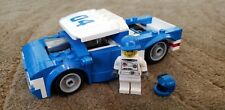 LEGO City Hot Rod Custom Blue White 04 Slammed Truck Racer with minifigure