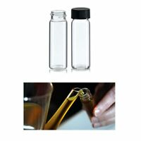 50 Pc Clear Glass Sample Bottle Test Tube Small Bottles Vials Storage Containers