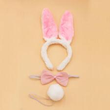 Rabbit Bunny Animal Set Kit Farm Headband Ears Bow Tie Tail Costume Child Adults